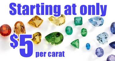genuine gemstones starting at only $5 per carat